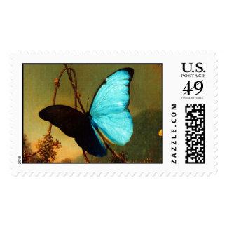 Mariposa azul de Martin Johnson Heade Morpho Estampilla