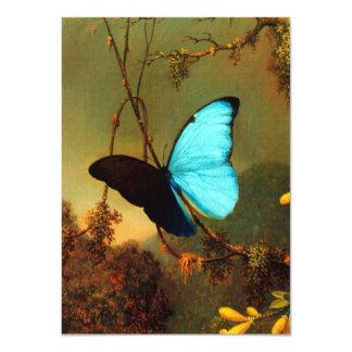 Mariposa azul de Martin Johnson Heade Morpho Invitación 11,4 X 15,8 Cm