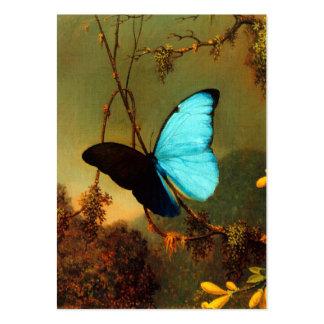 Mariposa azul de Martin Johnson Heade Morpho Tarjetas De Visita Grandes