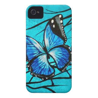 mariposa azul de Morpho de los casos del iPhone 4 Case-Mate iPhone 4 Coberturas