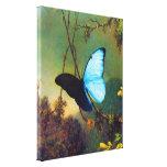Mariposa azul de Morpho Impresiones En Lona