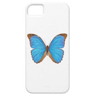 Mariposa azul de Morpho (Menelaus Morpho azul, Funda Para iPhone 5 Barely There