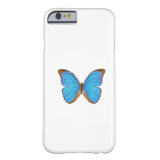 Mariposa azul de Morpho (Menelaus Morpho azul, Funda Para iPhone 6 Barely There