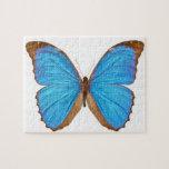 Mariposa azul de Morpho (Menelaus Morpho azul, Mor Rompecabeza Con Fotos