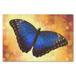 Mariposa azul de Morpho Papel De Seda