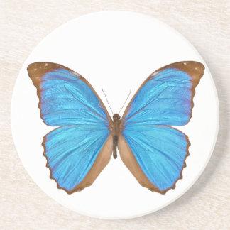 Mariposa azul de Morpho Posavasos Diseño