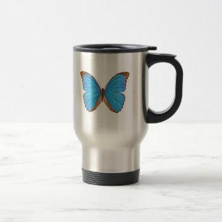 Mariposa azul de Morpho Taza Térmica