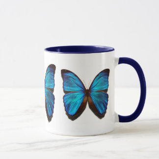 Mariposa azul del morpho