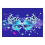 Mariposa azul felicitaciones