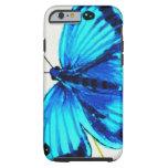 Mariposa azul funda de iPhone 6 tough