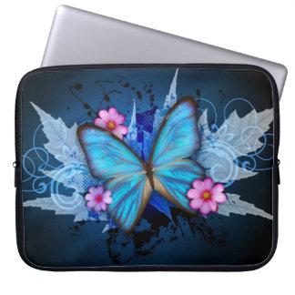 Mariposa azul manga portátil