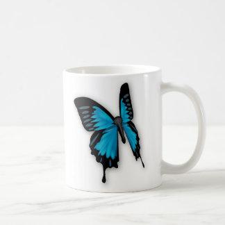 Mariposa azul Hued de Brighly Taza De Café