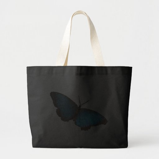mariposa azul (imagen digital) bolsa de mano