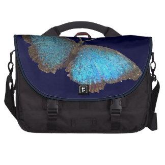 mariposa azul (imagen digital) bolsas de portátil