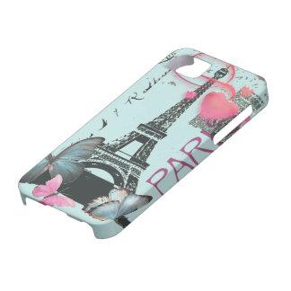 mariposa azul iphone5 de París EffielTower del iPhone 5 Carcasa