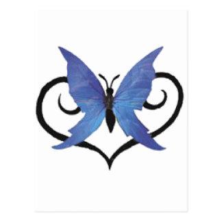 mariposa azul linda del amor tarjetas postales