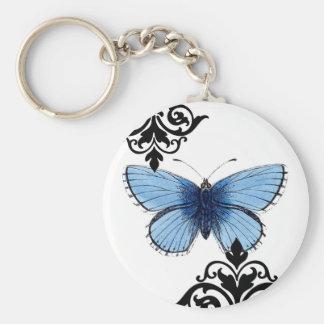 Mariposa azul llavero
