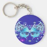 Mariposa azul llaveros personalizados