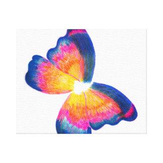 Mariposa azul (lona envuelta) impresión en lona