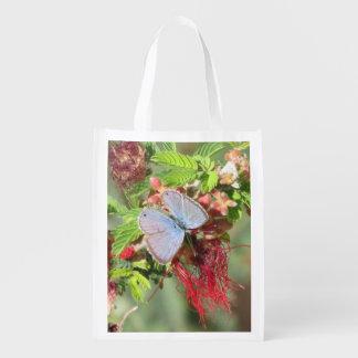 Mariposa azul marina bolsa de la compra