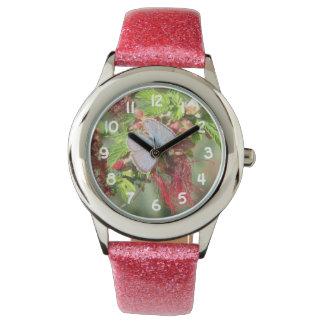 Mariposa azul marina relojes de pulsera