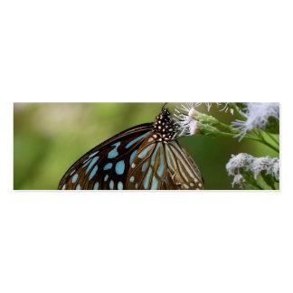 Mariposa azul marino del tigre Tirumala Septentri Tarjetas De Visita