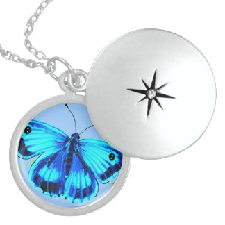 Mariposa azul medallones