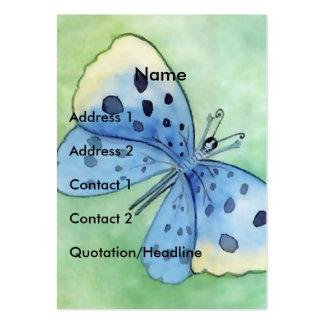 Mariposa azul - personalizar plantillas de tarjetas de visita