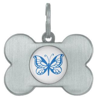 Mariposa azul placa mascota