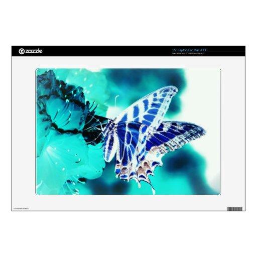 Mariposa azul portátil 38,1cm skins
