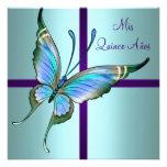 Mariposa azul Quinceanera del trullo