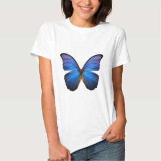 Mariposa azul radiante poleras