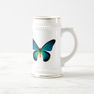 Mariposa azul Stein Jarra De Cerveza