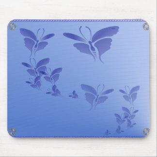 Mariposa azul suave Mousepad Tapetes De Raton