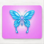 Mariposa azul tapete de raton