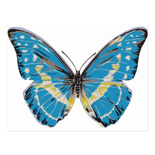 Mariposa azul tarjetas postales