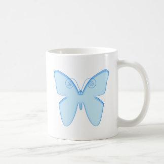 Mariposa azul taza clásica