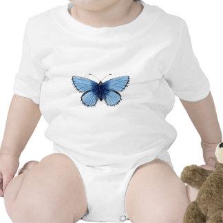 Mariposa azul trajes de bebé