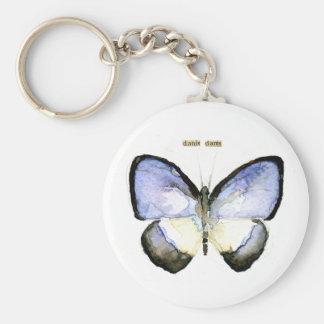 Mariposa: Azul Verde-Congregado Llaveros