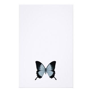 Mariposa azul y negra grande  papeleria de diseño