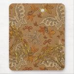 Mariposa beige 2 del oro de Mousepad Tapetes De Ratón