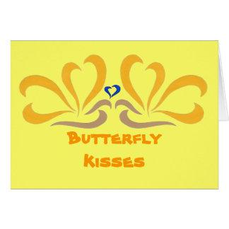 Mariposa besada tarjeta de felicitación