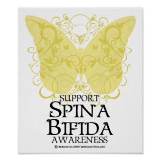 Mariposa bífida de Spina Posters