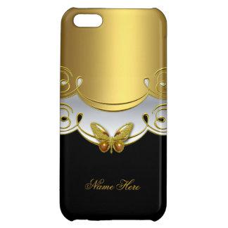 mariposa blanca 2 del negro del oro del iPhone