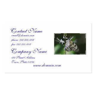 Mariposa blanca y negra de Polinating Tarjeta De Visita