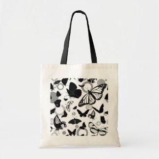 Mariposa blanco y negro bolsa