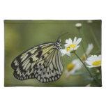 Mariposa blanco y negro de la ninfa mantel individual