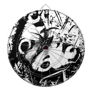 Mariposa blanco y negro tabla dardos