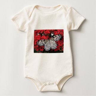 Mariposa blanco y negro hermosa body para bebé