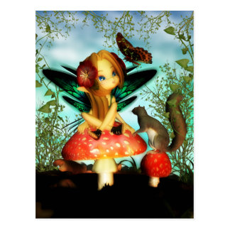 Mariposa bonita de Ooh - pequeña postal de hadas l